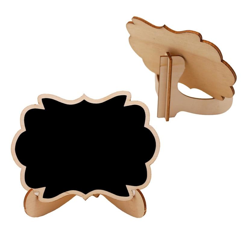 5pcs/Lot Mini Butterfly Shape Wooden Mini Blackboard Message Boardfor Wedding Party Decorations Chalkboards