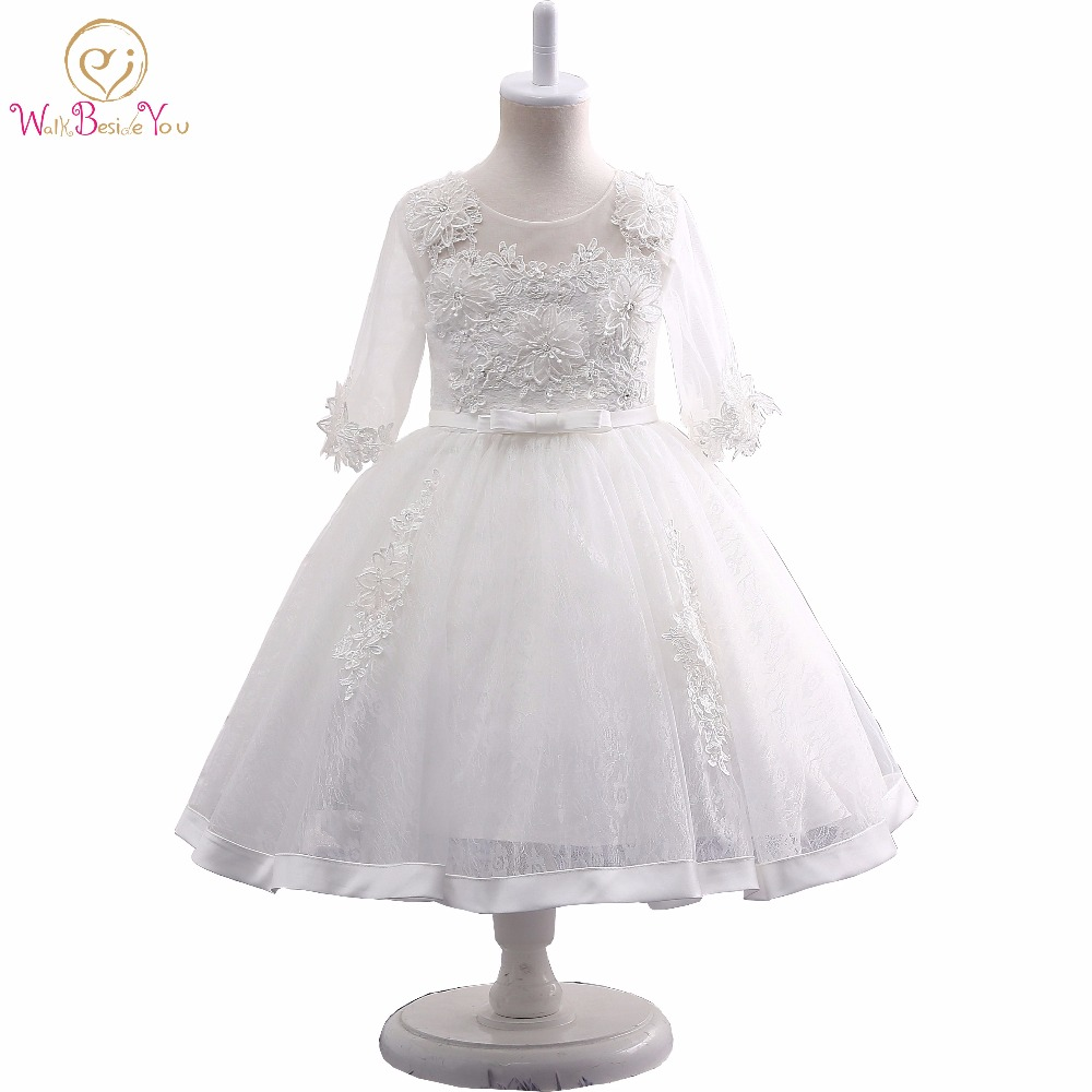 Walk Beside You Real Picture Girls Pageant Dress White Ivory Lace