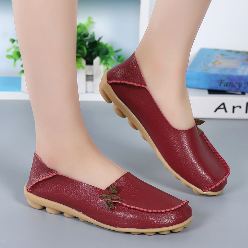 Spring Summer Shoes Cow Split Leather Loafers Women's Flats Casual Driving Shoes Moccasins Genuine Leather Footwear Walking northmarch classic spring summer moccasins men loafers shoes male flats genuine leather casual driving shoes mens footwear