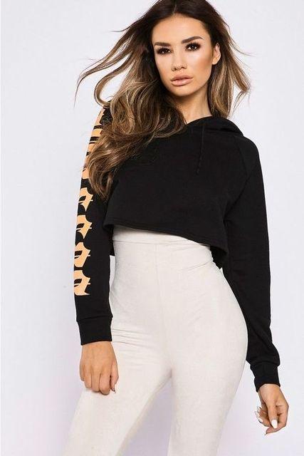 2017 Autumn Women European And American Style Fashion Printings Hoodies Sweatshirts Casual Loose Long Sleeve Tumblr