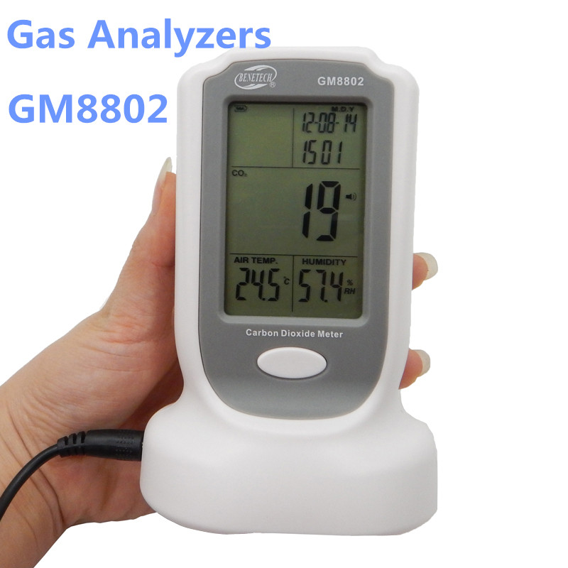 GM8802 Gas detector Handheld CO2monitor detector 3 in1 CO2 meter Carbon Dioxide Detector Temperature Humidity test