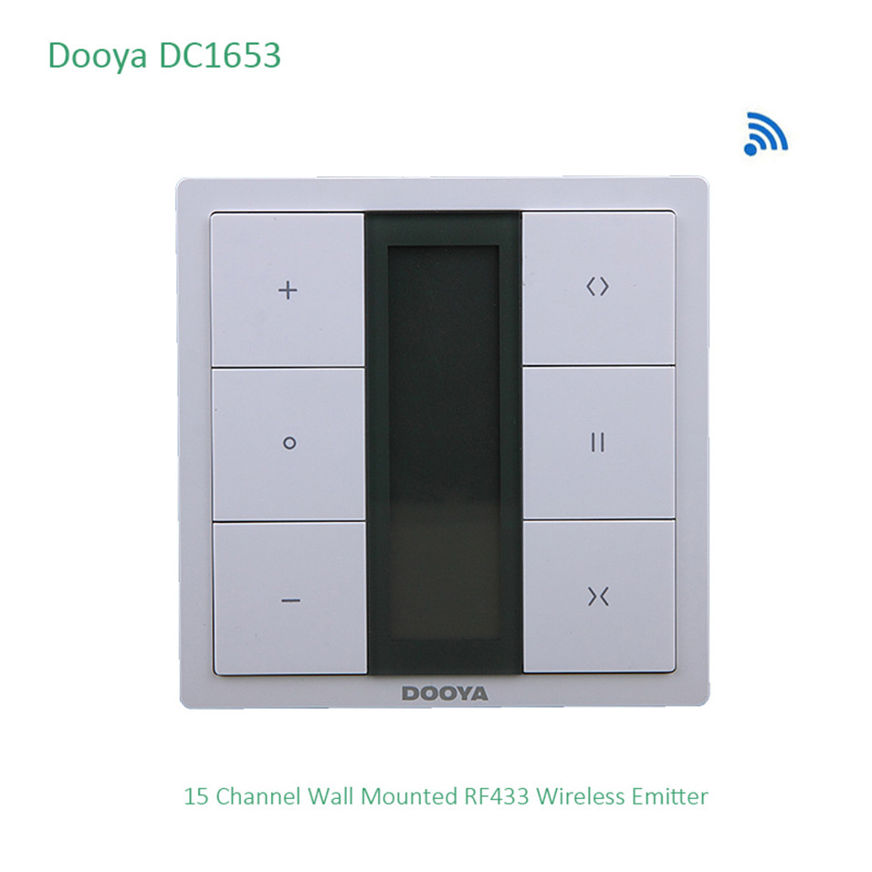Dooya DC1653 Wall Switch, 15 Channel Emitter Remote Control For Electric Curtain Motor, Curtain Accessories, For KT320E / DT52E