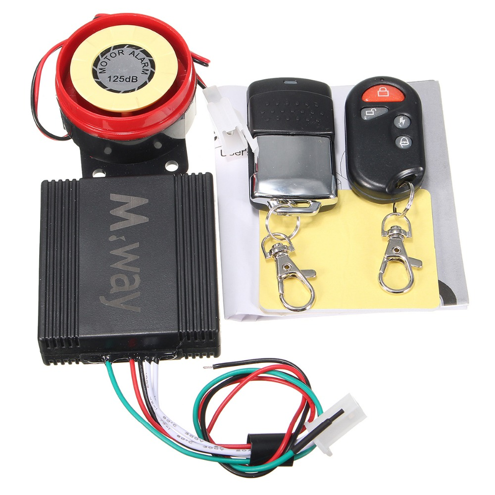 Motorcycle Motorbike Bike Scooter Anti theft Security font b Alarm b font 125db 2 Remote 12V