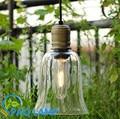 vintage lamps pendant light glass bell light fixture pavilion aisle industrial indoor lighting