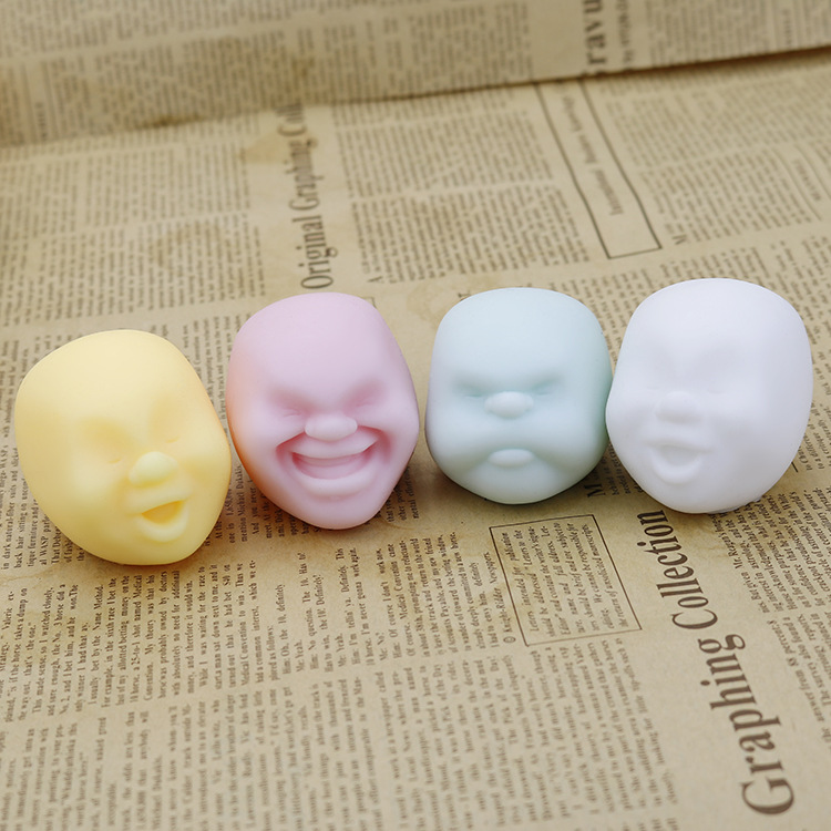 Face Stress Ball  Stressball Best Stress Relief Ball  Office Stress Relief Toys  Brain