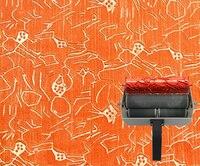 جدار الفن الطلاء 7 بوصة نمط الأسطوانة الأسطوانة لل جدار decorationrubber no. 050