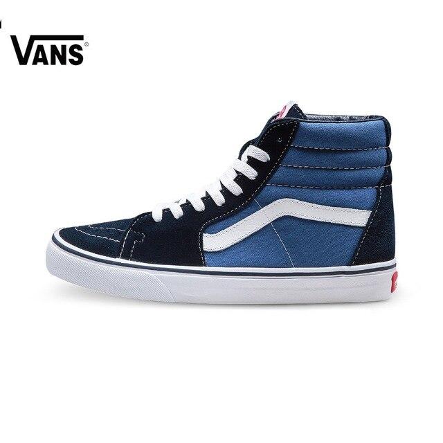 Original New Arrival Vans Men s   Women s Classic SK8-Hi Skateboarding  Shoes Sport Outdoor Sneakers Canvas VN-0D5INVY b89b9734d646