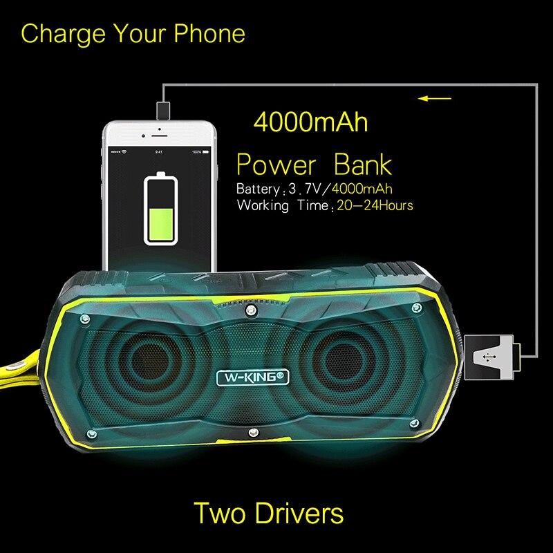 W-King су өткізбейтін Bluetooth 4.0 динамикі - Портативті аудио және бейне - фото 3