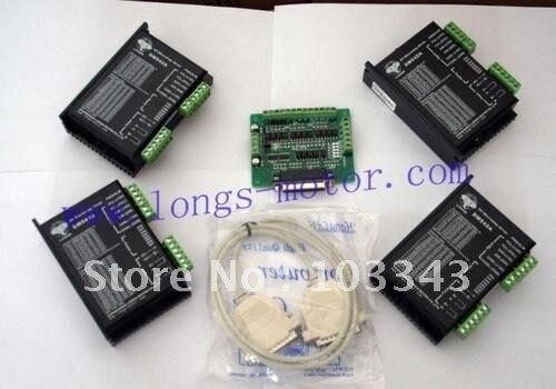 4 Axis Stepper motor driver PEAK 4.2A,18-50VDC 128Micro DM542A For  CNC Routecontroller board DB254 Axis Stepper motor driver PEAK 4.2A,18-50VDC 128Micro DM542A For  CNC Routecontroller board DB25
