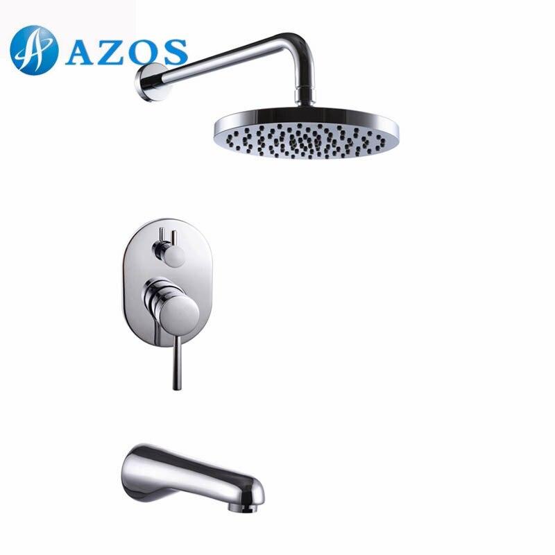 Bathroom Single Handle Shower Faucet Trim Valve Body Tub Spout ...