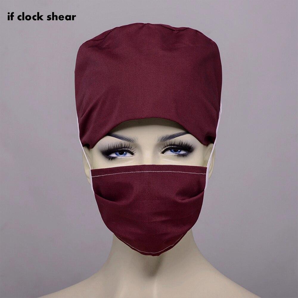IF Pharmacy Nurse Cap Doctor Surgical Hospital Adjustable Medical Surgery Caps Scrub Lab Clinic Dental  Women Scrubs Doctor Hat