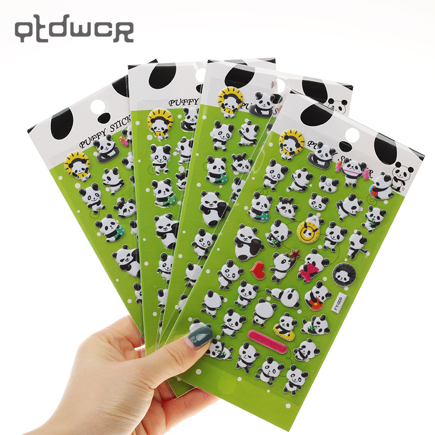 3PCS Panda 3D Bubble Decoration Decal DIY Diary Album Kawaii Stationery Notes Memo Pad Stickers infinite destiny in america photobook 50p memo note 100p 3 photo stickers release date 2013 10 18 korea kpop album