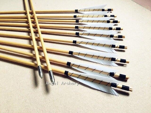une douzaine traditionnel en bois fl ches de chasse tir l 39 arc turquie plumes fl che pour. Black Bedroom Furniture Sets. Home Design Ideas
