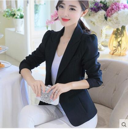 2018 Women Blazers Single Button Office Lady Jackets Coats Slim