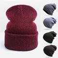 Мода Толстые Теплые Зимняя Шапка Для Мужчин Шапочки Унисекс Skullies Шапочки Мужчины Женщины Hat Cap Вязаная Шапка Тука Gorras Горячие Продаж