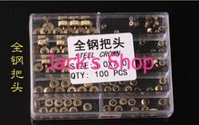 Envío gratis 100 unids oro inoxidable reloj de Metal lleno coronas tamaño 3.0 – 7.0 mm para reparación de relojes
