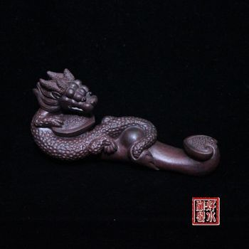 China collection yixing red stoneware Tea pet Ornament- dragon