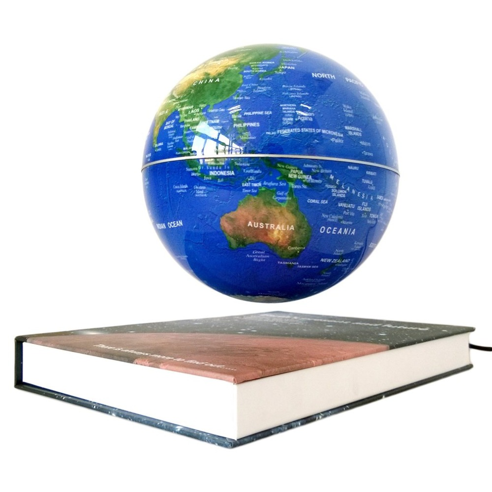 6 pollice Magnetico Rotante Globo Anti-Gravità Galleggiante Levitante Earth globe Mappa del mondo Per Desktop di Office Home Decor migliore regalo