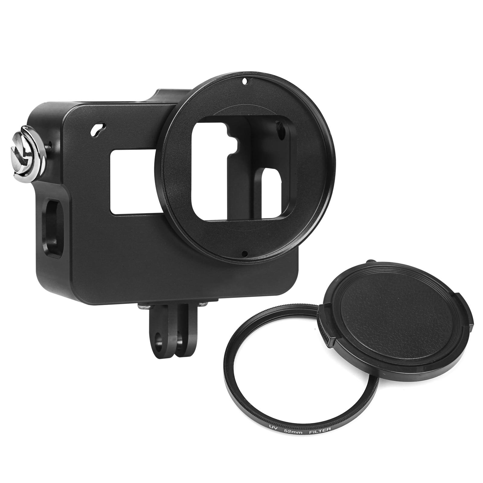 TIRER pour GoPro Cas En Alliage D'aluminium Étui de protection pour GoPro Hero 6 Camera Action avec UV Filtre Robuste Cas Montage