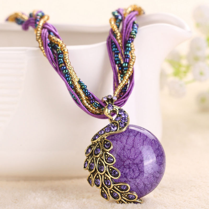 Bohemian long sweater chain necklace pendant female fashion ethnic style pendant necklace beach accessories