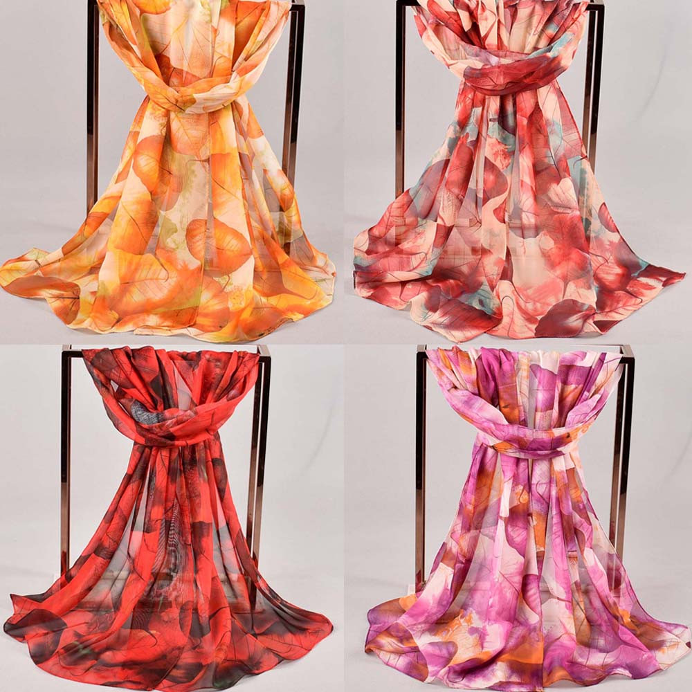 Women printed soft chiffon shawl wrap wraps scarf scarves women's winter scarf female stole snood for women