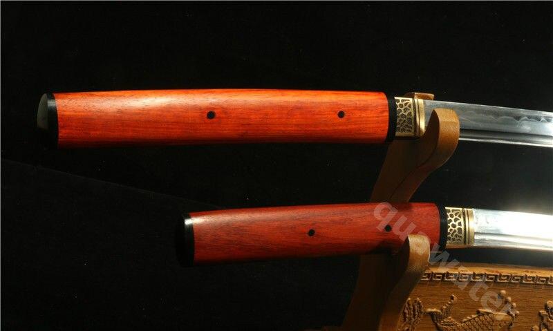 ԵՐԿՈՒ 1095 CARBON STEEL CLAY TEMPERED ROSEWOOD JAPANESE SAMURAI - Տնային դեկոր - Լուսանկար 4