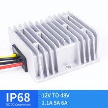 12 فولت إلى 48 فولت 2.1A 5A 6A مهايئ تيار مستمر مهايئ 12 فولت إلى 48 فولت DC DC منظم الجهد ، متوافقة مع CE RoHS للسيارات الشمسية