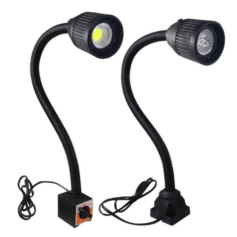 Led Machine Light 3W 4W Magnetic Base Industrial Led Gooseneck Lamp 5W 24v 220v For Lathe Garage Milling Cnc Machines Lighting