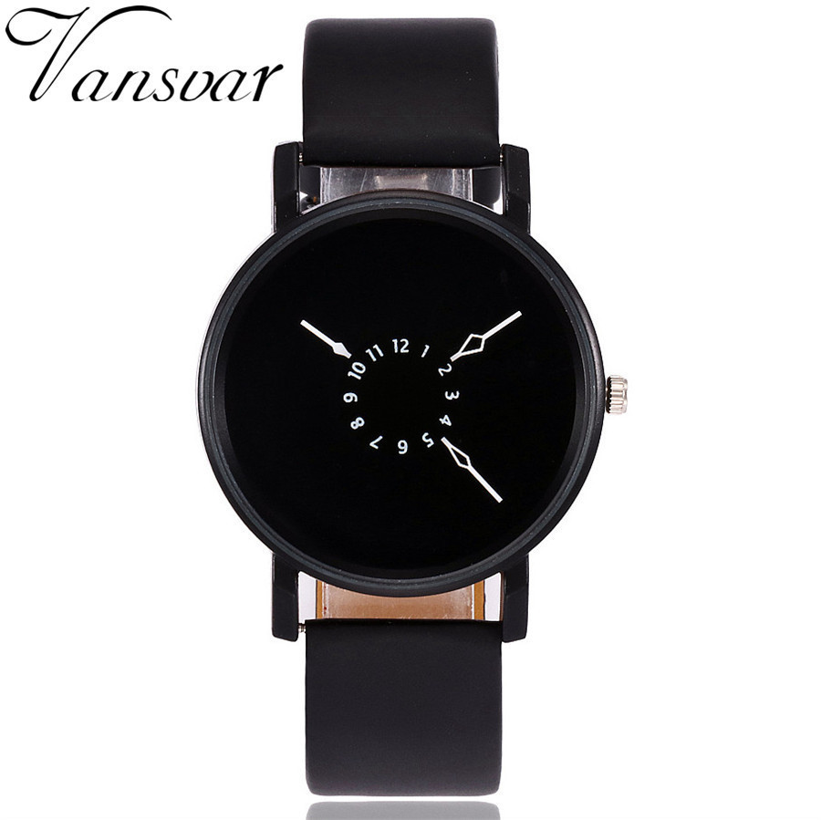 Vansvar Brand Fashion Creative Watches Women Men Quartz Watch Unique Dial Design Watch Leather Wristwatches Relogio Feminino 2017 men s gift enmex unique design leather creative dial changing patterns simple fashion for young peoples quartz watches