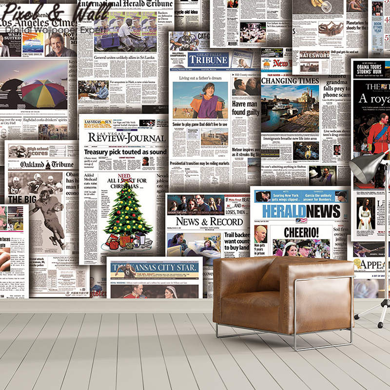 US $8.98 |Shear newspaper wall paper mural 3d home decoration accessories  for living room modern STDM30631-in Wallpapers from Home Improvement on ...