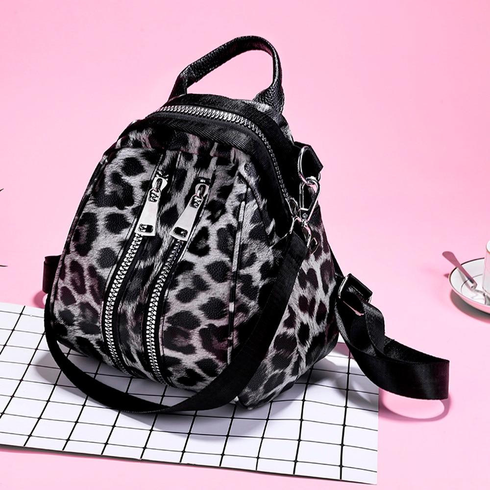 Сумки для женщин 2019 кожаные сумки женские горячие новые женские кожаные леопардовые школьная сумка рюкзак сумка дорожная сумка @