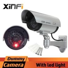 XINFI High-Quality Fake Camera AA Battery Powered Indoor/Outdoor Dummy Security Camera Bullet Fake CCTV Surveillance Camera
