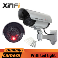 XINFI High-Quality Fake Camera AA Battery Powered Indoor/Outdoor Dummy Security Camera Bullet Fake CCTV Surveillance Camera(China)