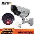 Xinfi câmera falso AA bateria alimentada outoodr interior manequim câmera de segurança bala cctv câmera de vigilância camaras