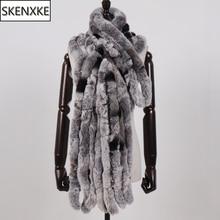 New Women Long Style Real Rex Rabbit Fur Scarf Rex Rabbit Fur Warm Soft Warp Quality Fashion Rex Rabbit Fur Tassel Shawl Scarves