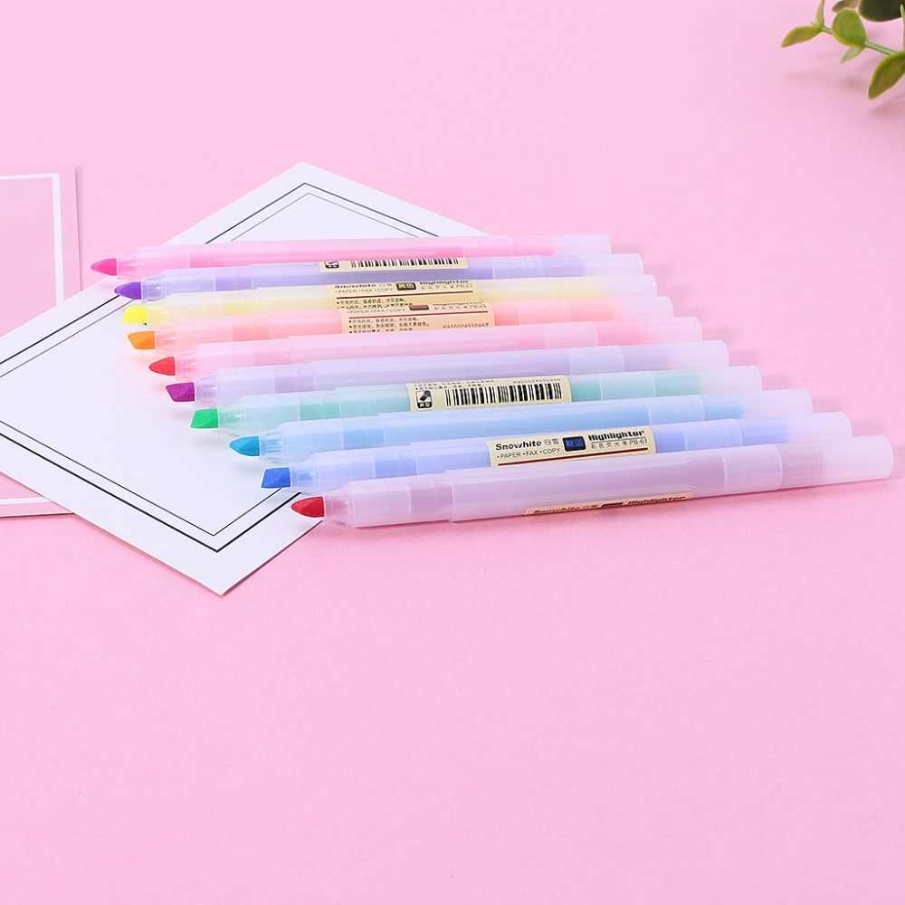 10 個蛍光ペン軽度ライナー蛍光色マーカーペン学用品