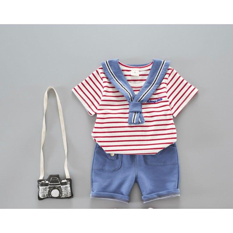2 шт/комплект Комплект одежды для маленьких мальчиков лето комплект для малышей Шорты для женщин рубашка детские хлопковые футболка и штаны...