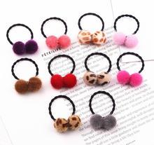 10pcs New Princess Cotton ball Kids Elastic Hair Bands women Headdress Children Ropes Headwear