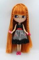 Darmowa Wysyłka Przezroczyste RBL-334T DIY Nude Blyth doll prezent urodzinowy dla dziewczyny 4 kolor wielkie oczy z piękne Włosy słodkie zabawki
