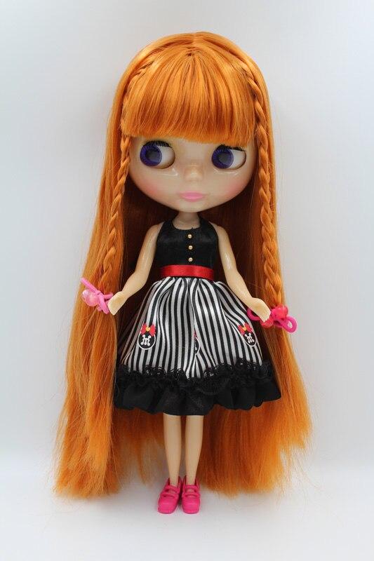 Бесплатная доставка, прозрачная кукла Блит «сделай сам», подарок на день рождения для девочки, 4 цвета, большие глаза с красивыми волосами, м...