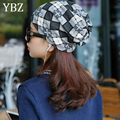 YBZ Fashion Winter Warm Beanie Hat Star Pattern Women Spring Autumn Female Warm Bronzing Sleeve Head Cap 3 Colors