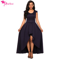 Dear Lover Ball Gown Navy Sophisticated Party Queen High Low Maxi Dress with Belt Asymmetric Long Vestidos robe longue LC61918
