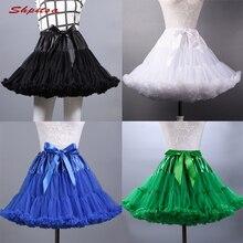 Negro o blanco enaguas para la boda de tul Tutu niña enagua falda crinolina  Rockabilly mujer Lolita falda 5a21af7f1234