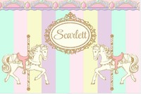 custom Carousel Pink Mint Purple Yellow Gold Striped backgrounds High quality Computer print party photo backdrop