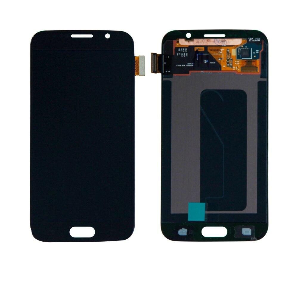 Livraison gratuite pour Samsung S6 Galaxy G920T G920V G920A G920F G920P écran tactile numériseur LCD affichage assemblée noir pièces de réparation