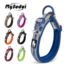 Truelove Embroider Neoprene Pet Dog Collar Nylon Adjustable Dog Collars For Big Small Dogs Running Reflective Chihuahua Bitpulls(China)
