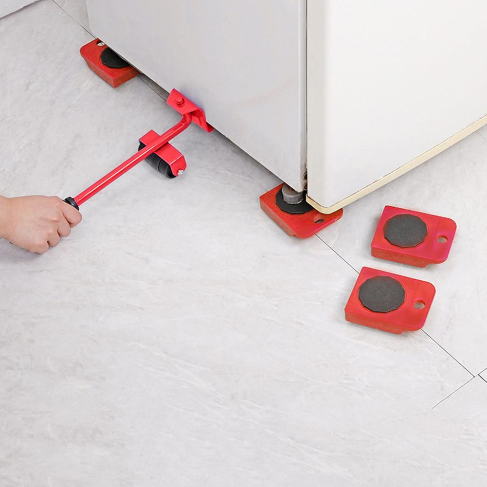 High Qulity 5 Pcs/set Furniture Lifter Mover Transport Furniture Slides Kit, Heavy Furniture Roller Move Tools