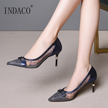Women Shoes High Heel Ladies Shoes Leather Pumps Pointed Toe Thin Heels Wedding Shoes Plus Size 41 42 43 plus size 35 42 women pumps pointed toe ladies thin heels wedding shoes red bottom high heel sole nude dress pumps women 952 1ma