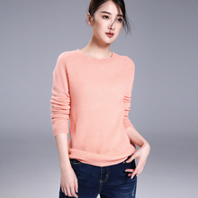 5 colors 100% pure cashmere knitting pullover sweater long sleeves super soft winter women's knitting clothings