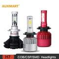 Auxmart H7 COB/CSP/SMD LED Lâmpadas Dos Faróis Do Carro 6500 K 8000LM Driving Farol Tudo-Em-um Único feixe de Nevoeiro Head lamp 12 v 24 v DRL